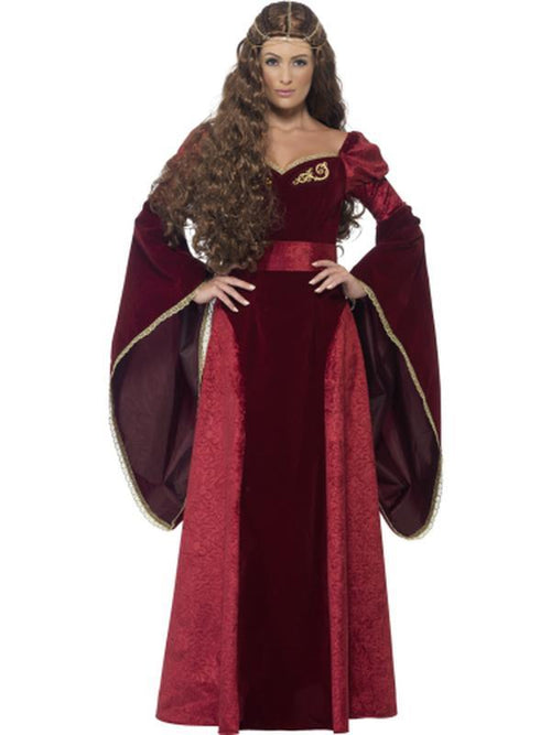 Medieval Queen Deluxe Costume-Costumes - Women-Jokers Costume Hire and Sales Mega Store