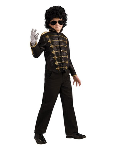 Michael Jackson Child Deluxe Black Military Jacket - S-Costumes - Boys-Jokers Costume Hire and Sales Mega Store