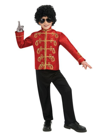 Michael Jackson Child Deluxe Red Military Jacket - S-Costumes - Boys-Jokers Costume Hire and Sales Mega Store