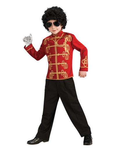 Michael Jackson Red Military Jacket - Size S-Costumes - Boys-Jokers Costume Hire and Sales Mega Store