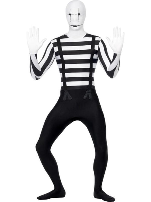 Mime Second Skin Costume-Costumes - Mens-Jokers Costume Hire and Sales Mega Store