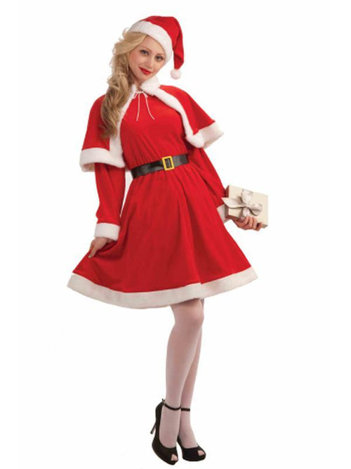 Miss Santa Classic Costume - Size Std-Costumes - Women-Jokers Costume Hire and Sales Mega Store