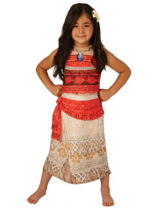 Moana Deluxe Costume - Size 7-8-Costumes - Girls-Jokers Costume Hire and Sales Mega Store