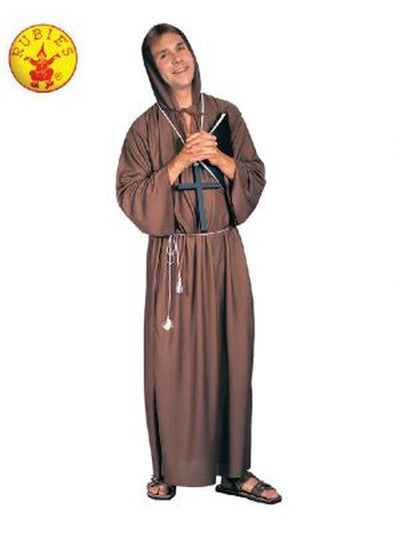 MONK ROBE BROWN.-Costumes - Mens-Jokers Costume Mega Store