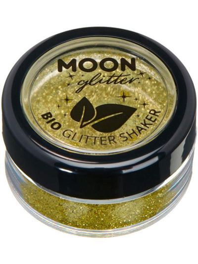 Moon Glitter Bio Glitter Shakers, Gold-Make up and Special FX-Jokers Costume Mega Store