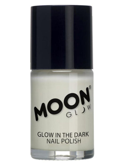Moon Glow - Glow in the Dark Nail Polish, Clear-Make up and Special FX-Jokers Costume Mega Store