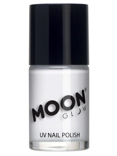 Moon Glow Intense Neon UV Nail Polish, White-Make up and Special FX-Jokers Costume Mega Store