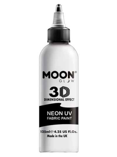 Moon Glow - Neon UV Intense Fabric Paint, White, 125ml-Make up and Special FX-Jokers Costume Mega Store