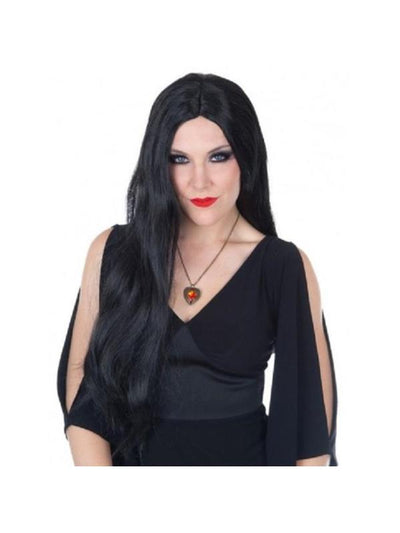 Morticia Wig Black-Wigs-Jokers Costume Hire and Sales Mega Store