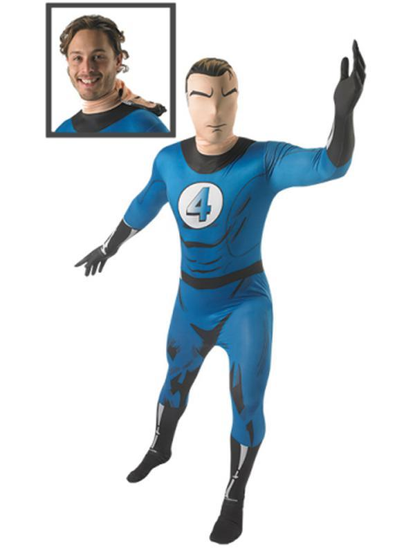 Mr Fantastic 2Nd Skin Suit- Size M-Costumes - Mens-Jokers Costume Hire and Sales Mega Store