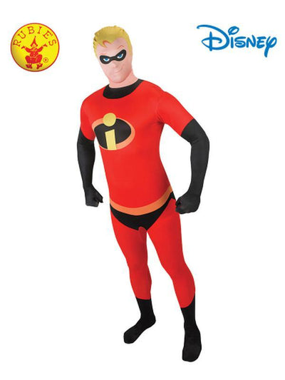 MR INCREDIBLE 2ND SKIN SUIT- SIZE MEDIUM-Costumes - Mens-Jokers Costume Hire and Sales Mega Store