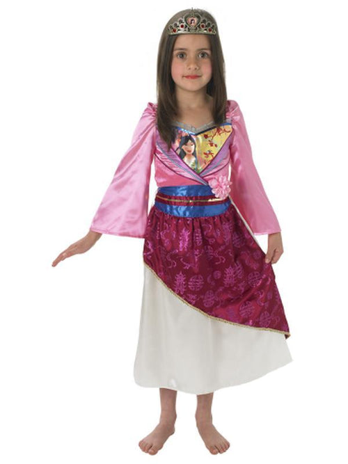 Mulan Shimmer Deluxe Costume - Size S-Costumes - Girls-Jokers Costume Hire and Sales Mega Store