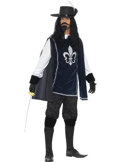 Musketeer Male Costume, with Top, Hat - Jokers Costume Mega Store