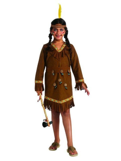 Native American Girl Costume - Size S-Costumes - Girls-Jokers Costume Hire and Sales Mega Store