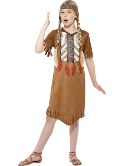 Native American Inspired Girl Costume-Costumes - Girls-Jokers Costume Hire and Sales Mega Store