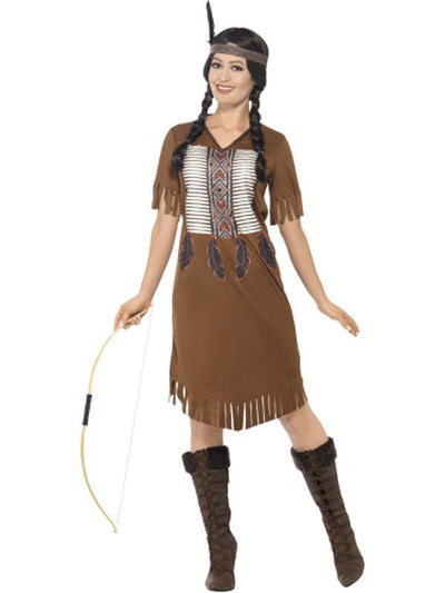 Native American Inspired Warrior Princess Costume-Costumes - Women-Jokers Costume Hire and Sales Mega Store