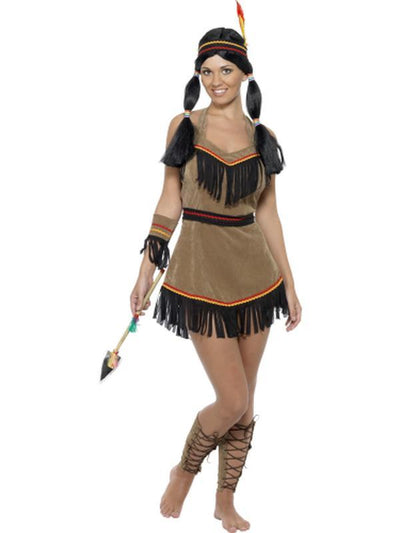 Native American Inspired Woman Costume-Costumes - Women-Jokers Costume Hire and Sales Mega Store