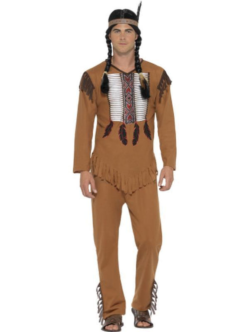 Native Western Warrior Costume-Costumes - Mens-Jokers Costume Hire and Sales Mega Store