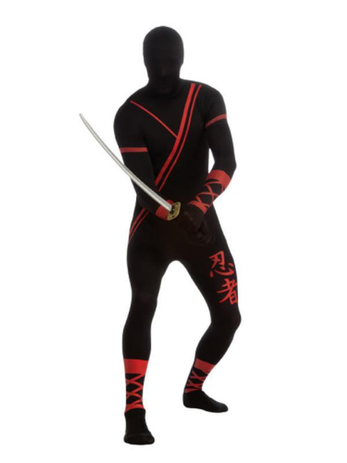 Ninja 2Nd Skin Suit - Size L-Costumes - Mens-Jokers Costume Hire and Sales Mega Store
