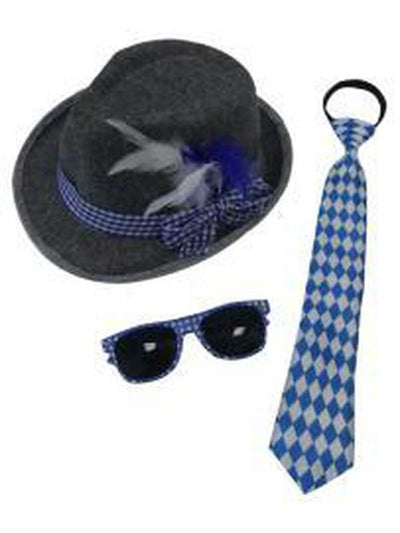 Oktoberfest Set - Glasses, Tie & Hat-Costume Accessories-Jokers Costume Hire and Sales Mega Store