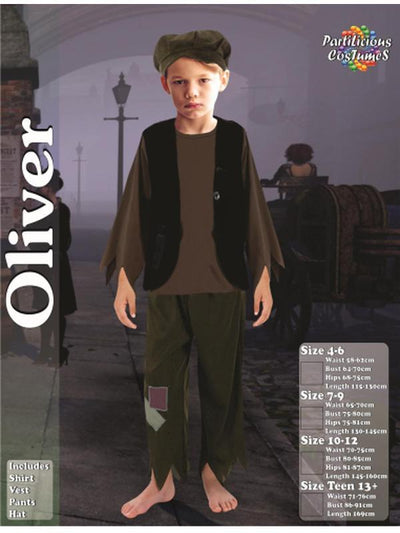 Oliver Costume-Costumes - Boys-Jokers Costume Hire and Sales Mega Store