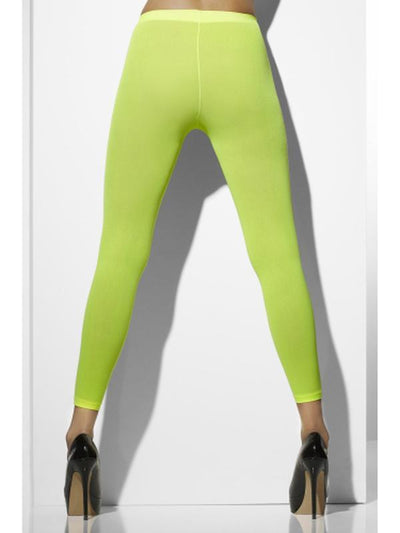 Opaque Footless Tights - Neon Green-Leg Wear-Jokers Costume Hire and Sales Mega Store