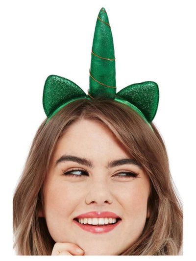 Paddy's Day Metallic Unicorn Headband-Hats and Headwear-Jokers Costume Mega Store