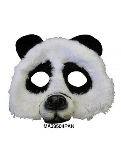 Panda 1/2 Mask-Masks - Animal-Jokers Costume Hire and Sales Mega Store
