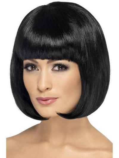 Partyrama Wig, 12 inch - 12 inch, Black-Wigs-Jokers Costume Hire and Sales Mega Store