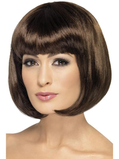 Partyrama Wig, 12 inch - 12 inch, Brown-Wigs-Jokers Costume Hire and Sales Mega Store