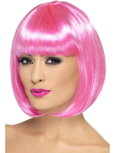 Partyrama Wig, 12 inch - 12 inch, Pink-Wigs-Jokers Costume Hire and Sales Mega Store