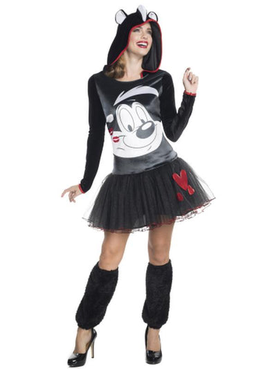 Pepe Le Pew Hooded Tutu Dress - Size L-Costumes - Women-Jokers Costume Hire and Sales Mega Store