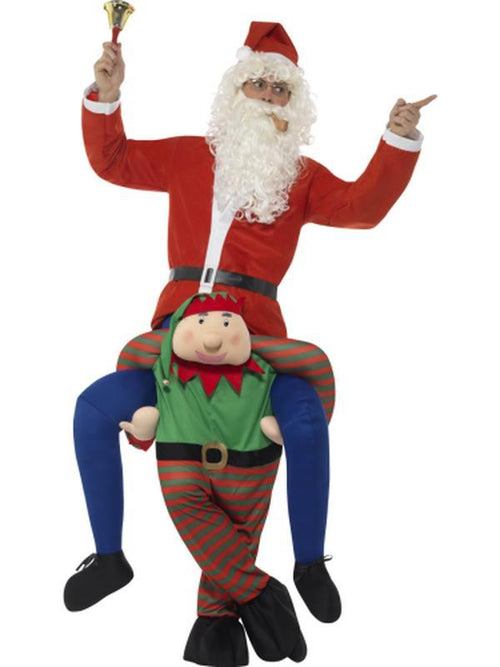 Piggyback Elf Costume-Costumes - Mens-Jokers Costume Hire and Sales Mega Store