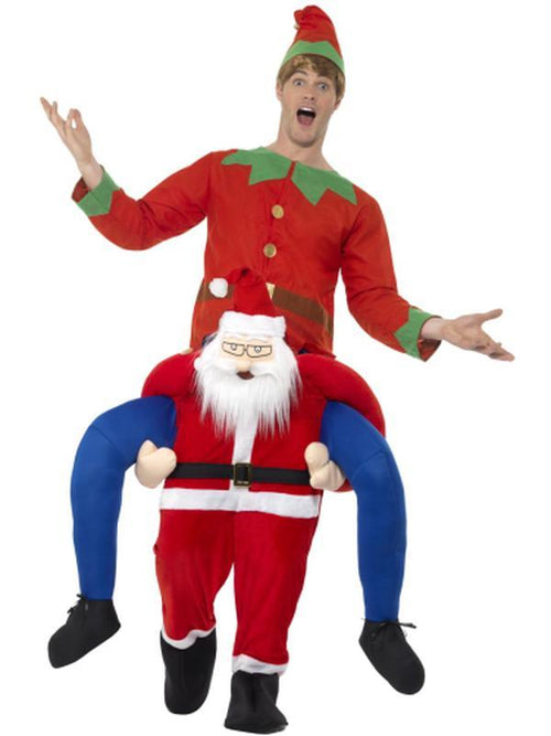 Piggyback Santa Costume-Costumes - Mens-Jokers Costume Hire and Sales Mega Store