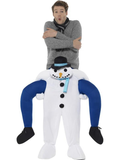 Piggyback Snowman Costume-Costumes - Mens-Jokers Costume Hire and Sales Mega Store