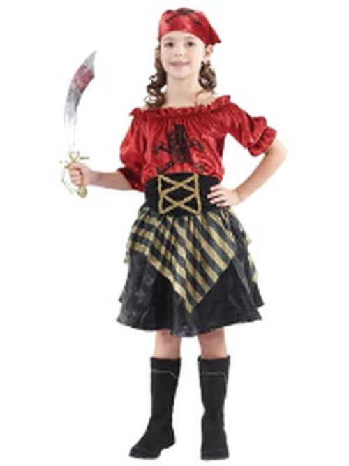 **Pirate Beauty - Child - Small**-Costumes - Girls-Jokers Costume Hire and Sales Mega Store