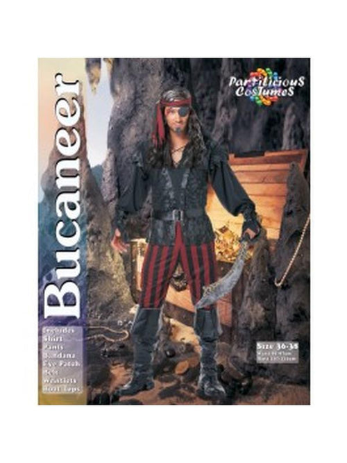 Pirate Bucaneer-Costumes - Mens-Jokers Costume Hire and Sales Mega Store