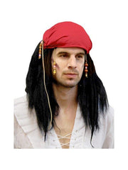 **Pirate Carribean Wig w/Beads Black**-Wigs-Jokers Costume Hire and Sales Mega Store