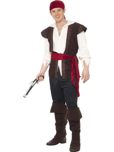 Pirate Deck Mate Costume-Costumes - Mens-Jokers Costume Hire and Sales Mega Store