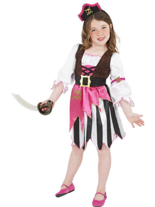 Pirate Girl Costume, Pink-Costumes - Girls-Jokers Costume Hire and Sales Mega Store