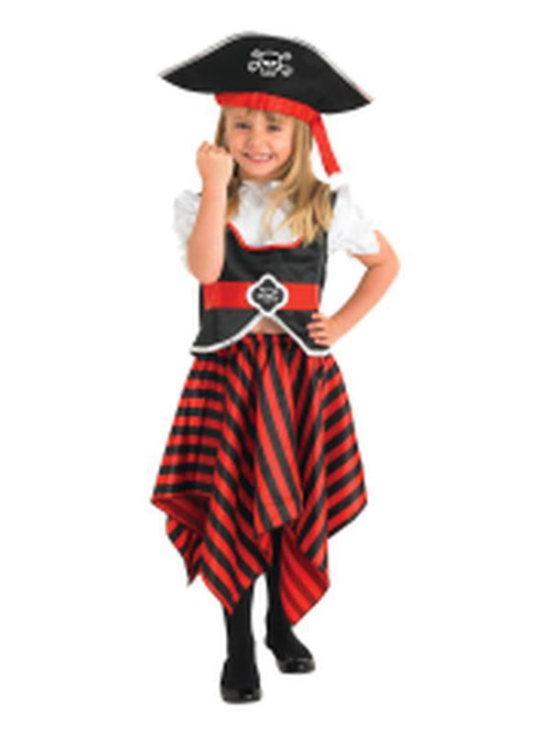 Pirate Girl Costume - Size S-Costumes - Girls-Jokers Costume Hire and Sales Mega Store