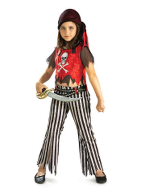 Pirate Girl - Size M-Costumes - Girls-Jokers Costume Hire and Sales Mega Store