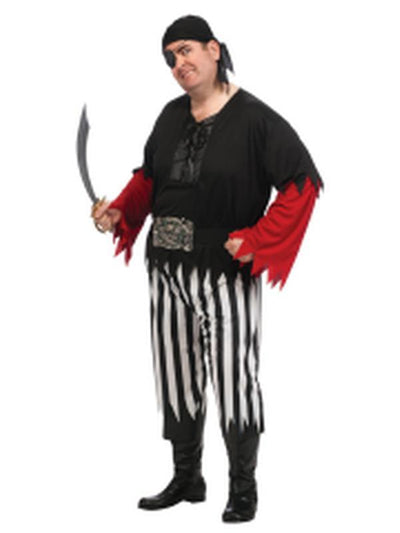 Pirate Guy Costume - Size Std-Costumes - Mens-Jokers Costume Hire and Sales Mega Store