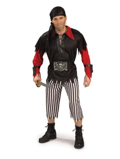 Pirate King Costume - Size Std-Costumes - Mens-Jokers Costume Hire and Sales Mega Store