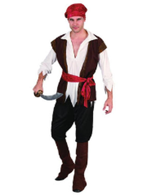 Pirate Man - Adult - Large-Costumes - Mens-Jokers Costume Hire and Sales Mega Store