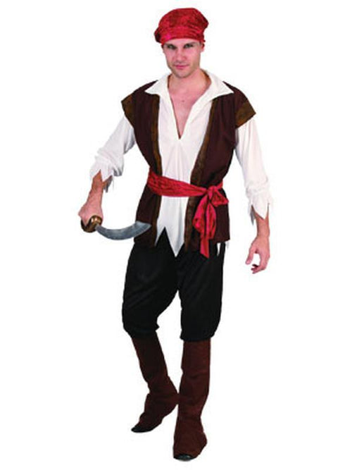 Pirate Man - Adult - Medium-Costumes - Mens-Jokers Costume Hire and Sales Mega Store