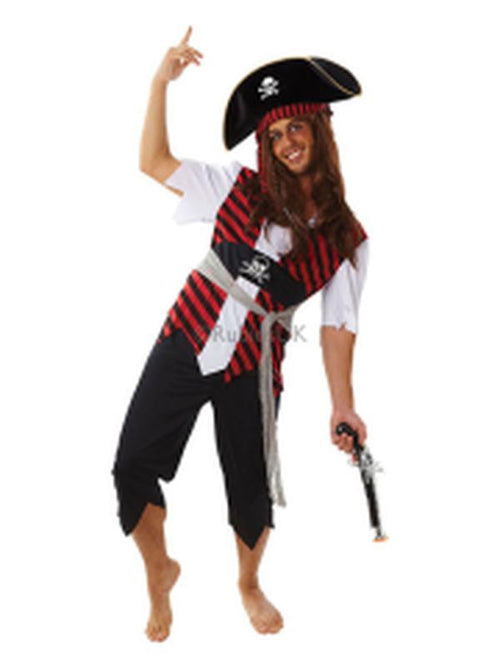 Pirate Man Costume - Size Std-Costumes - Mens-Jokers Costume Hire and Sales Mega Store