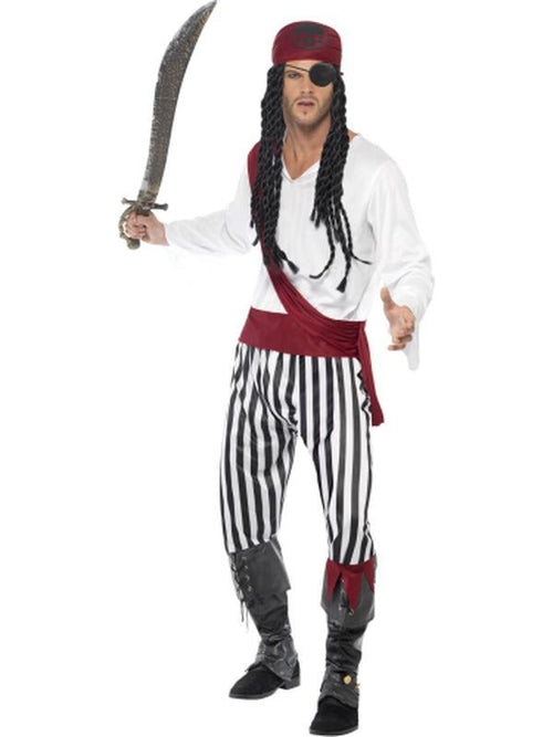 Pirate Man Costume-Costumes - Mens-Jokers Costume Hire and Sales Mega Store