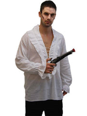 Pirate Shirt - White-Costumes - Mens-Jokers Costume Hire and Sales Mega Store