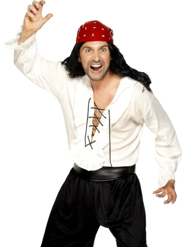 Pirate Shirt-Costumes - Mens-Jokers Costume Hire and Sales Mega Store